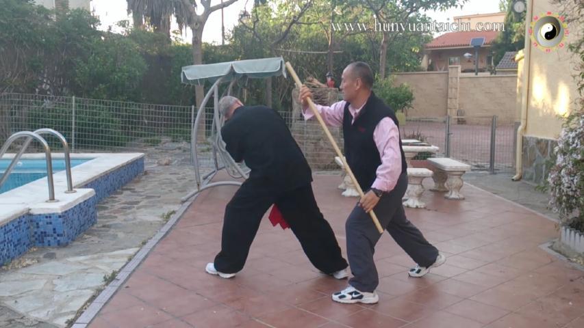 Técnicas con sable, Bian Gan y palo largo